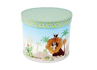 Round box 25cm Mole and lion