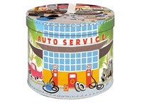 Round box 30cm Mole and car servis