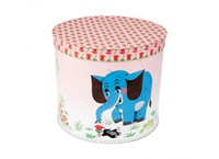 Round box 30cm Mole and elephant