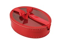 Oval box 29cm red