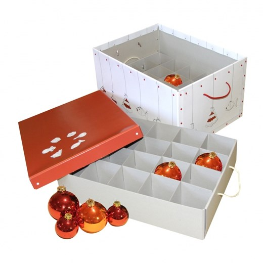 Storage Christmas box orange and white