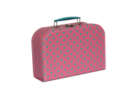 Children´s suitcase 25cm pink with blue dots Studio Pets collection