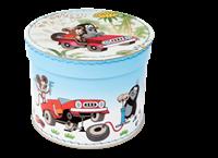 Round box 20cm Mole and car service