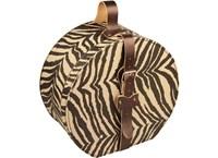Hat box 40cm zebra