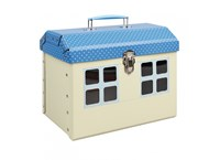 Children´s suitcase house with blue roof 26cm
