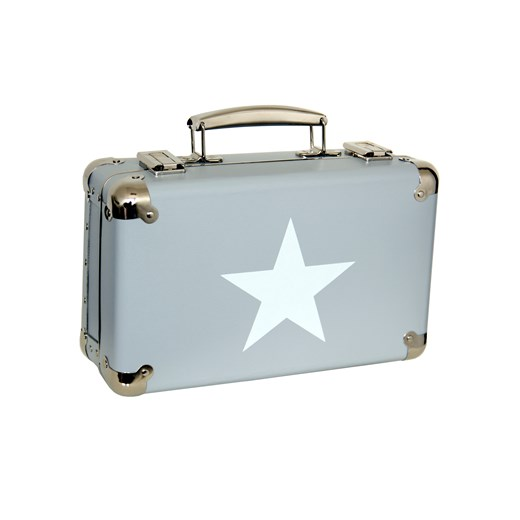 Riveted suitcase 30cm grey with white star