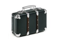 Riveted suitcase 30cm black