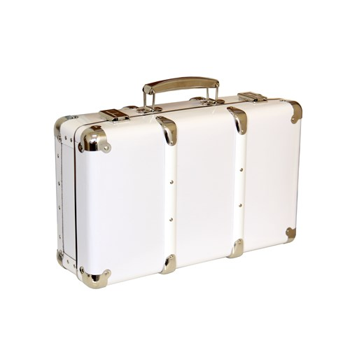 Riveted suitcase 40cm white