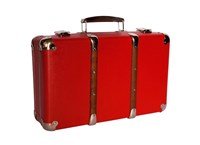 Riveted suitcase 55cm red
