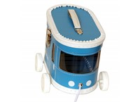Children´s suitcase tram blue