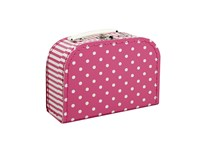 Children´s suitcase 20cm pink with dots