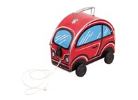 Children´s suitcase car red