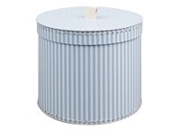 Round box 25cm blue with white stripes