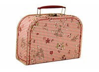 Children´s suitcase 25cm check and flowers