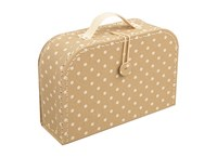 Children´s suitcase 20cm natural with dots