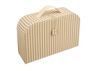 Children´s suitcase 20cm natural with stripes