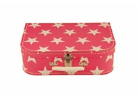 Children´s suitcase 20cm pink with stars