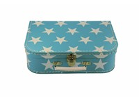 Children´s suitcase 20cm blue with stars