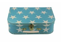 Children´s suitcase 25cm blue white stars