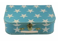 Children´s suitcase 30cm blue with stars