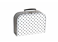 Children´s suitcase 25cm black white with dots and stripes