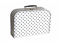 Children´s suitcase 30cm black white with dots and stripes