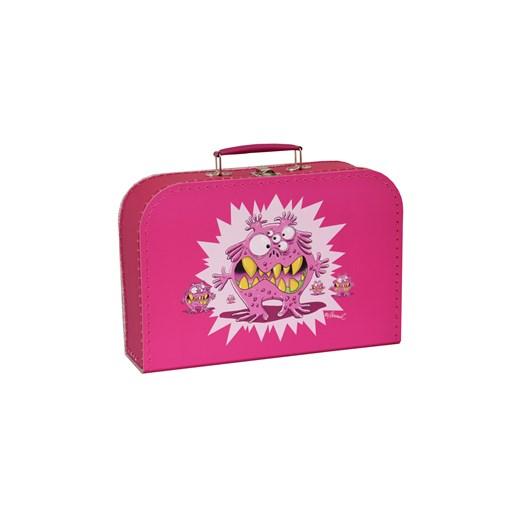 Children´s suitcase 20cm pink monsters