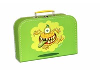 Children´s suitcase 25cm green monsters