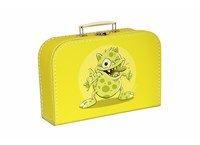 Children´s suitcase 25cm yellow monsters