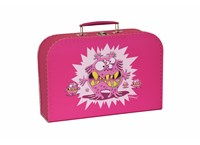 Children´s suitcase 25cm pink monsters