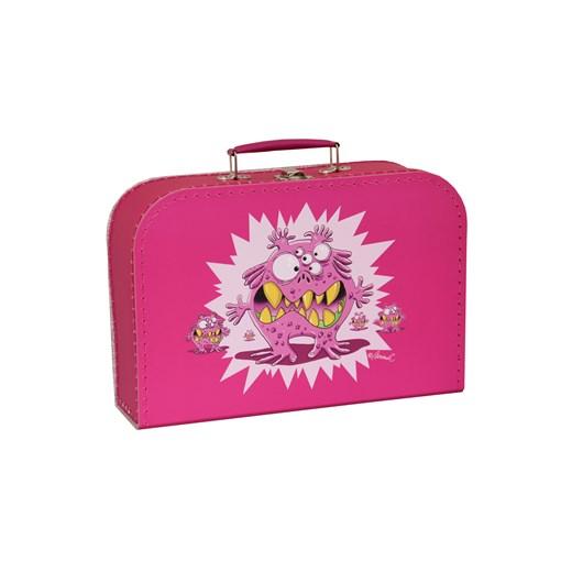Children´s suitcase 25cm pink monsters