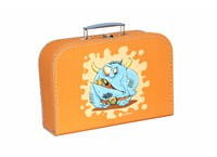 Children´s suitcase 25cm orange monsters