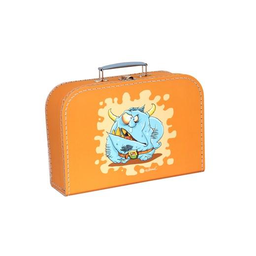 Children´s suitcase 25cm orange monsters