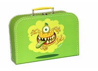 Children´s suitcase 30cm green monsters