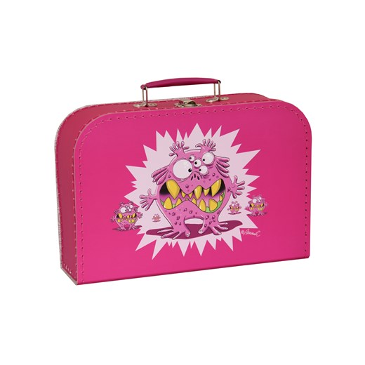 Children´s suitcase 30cm pink monsters
