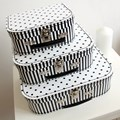 Children´s suitcase 20cm black-white dots and stripes