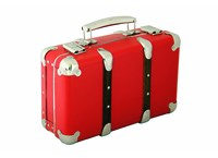 Riveted suitcase 40cm red