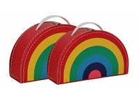 Children´s suitcase rainbow colour 2set