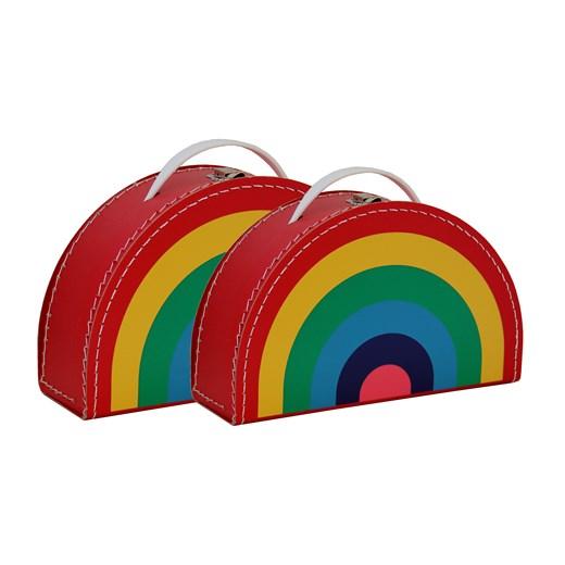 Children´s suitcase rainbow colour 2set
