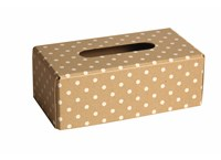 Tissues box natural with dots