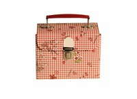 Children´s handbag 15cm check flowers