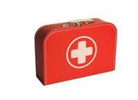 Children´s suitcase 30cm red with cross