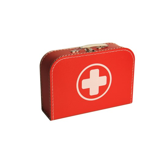 Children's suitcase 30cm red with cross