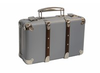 Riveted suitcase 50cm light grey