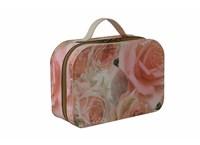 Suitcase zippred 25cm big roses