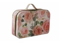 Suitcase zippred 30cm big roses
