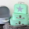Children´s suitcase 30cm mint with stars