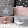 Children´s suitcase 20cm grey with star