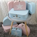 Children´s suitcase 20cm pink with star