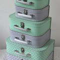 Children´s suitcase 20cm mint with star